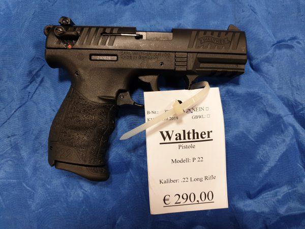 Walther P22 22LR Pistole Kat B