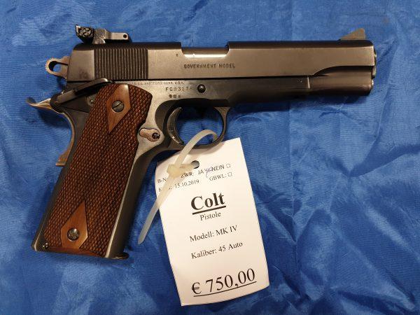 Colt 1911 MKIV Pistole 45ACP Kat B