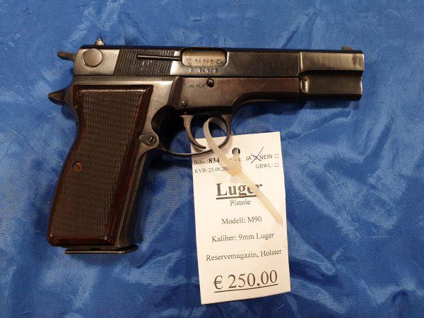 Luger M90 Pistole 9mm Luger Kat B