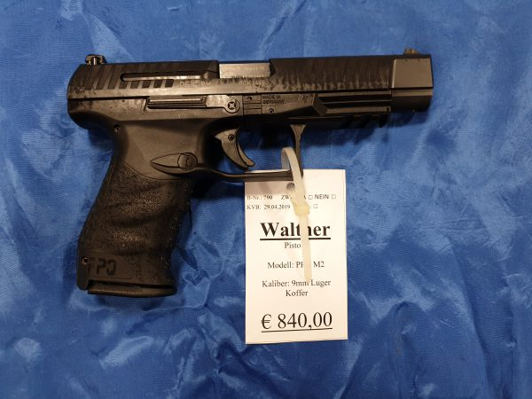 Walther PPQ M2 Pistole 9mm Luger Kat B Original Zubehör