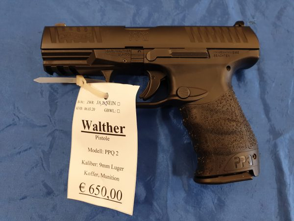 Walther PPQ 2 9mm Luger Kat B