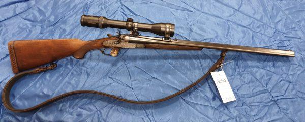 Ferlacher Hahnbüchsflinte 7x57R 16/65 EST .222 Rem Habicht 1,5-6×42